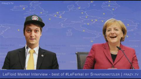 Photo Screenshot aus dem Video Best of LeFloid Merkel Interview vom Synapsenkitzler